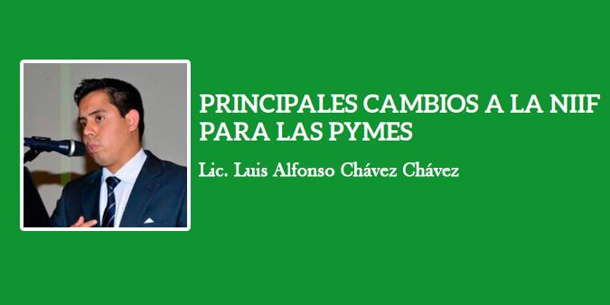 PRINCIPALES CAMBIOS A LA NIIF PARA LAS PYMES