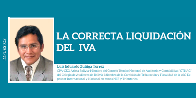 LA CORRECTA LIQUIDACIÓN DEL IVA
